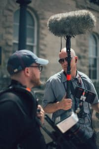 Sound Design Boom Operator Film Set