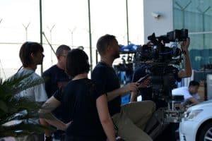 Bild von Dreharbeiten für Messefilme