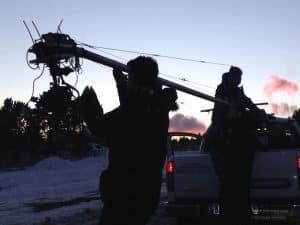 Dreharbeiten für Messefilme eines Automobilherstellers