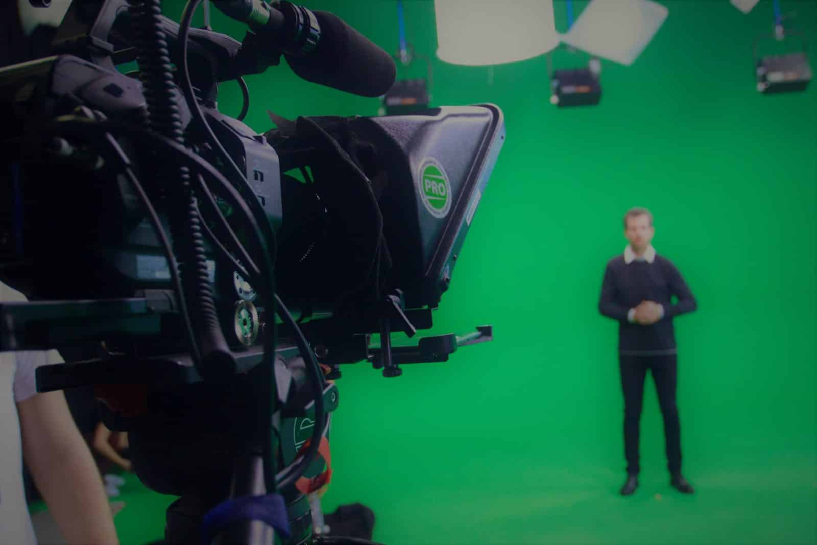 Greenscreen Studion mecom vision Fulda Moderation