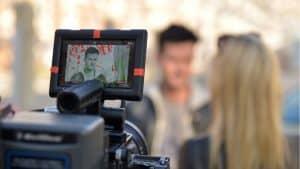 Bild von Dreharbeiten zu einem Imagefilm